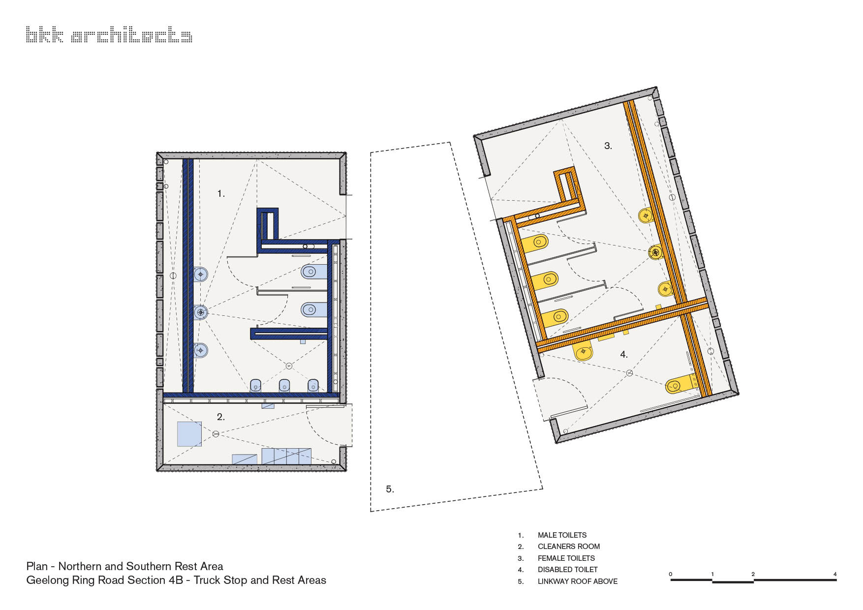 Gallery of geelong truckstop bkk architects 12 for Rest house plan design