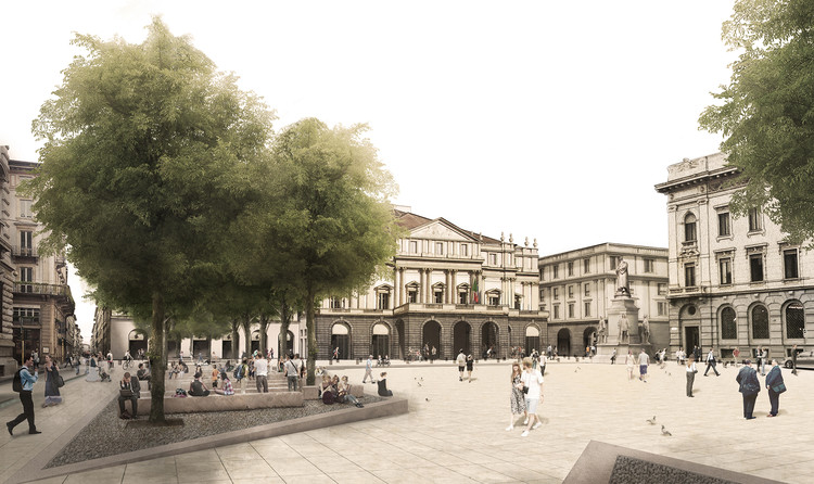 A Bold Proposal for Revitalization Wins Third Place in Milan's Piazza della Scala Competition, Courtesy of UNDURRAGA DEVES ARQUITECTOS