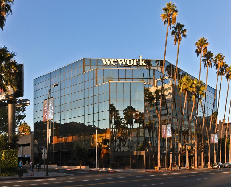 Exterior of WeWork Hollywood in LA. Image Courtesy of WeWork
