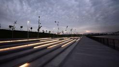 La nueva iluminación integrada al Parque Fluvial Renato Poblete por DIAV