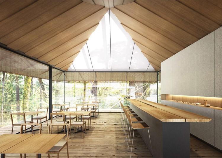 Cafe. Imagen © Kengo Kuma & Associates