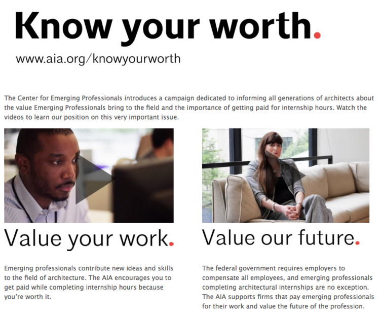 AIA Launches Campaign Against Unpaid Internships , Courtesy of The American Institute of Architects