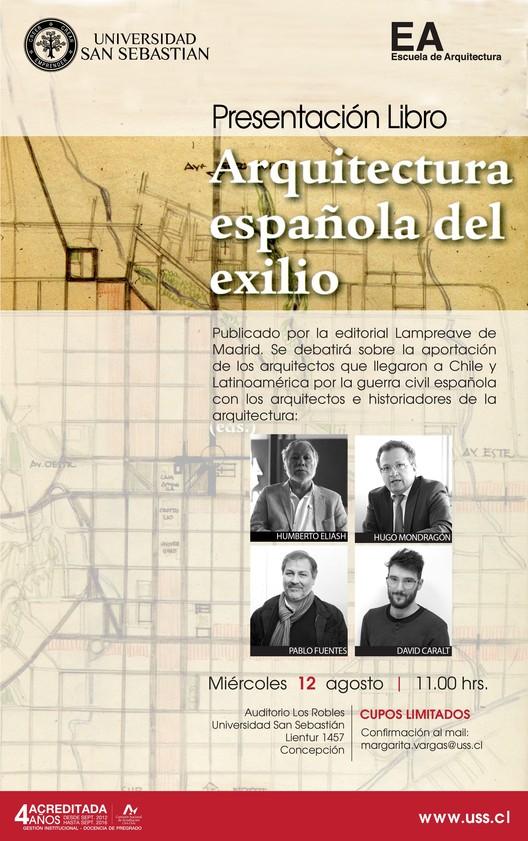 """Presentación del libro """"Arquitectura española del exilio"""" / Concepción, EA CCP USS"""
