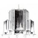 Variante del estudio de fachada en base al proyecto definitivo. Image vía Enrique Seoane Ros. Una búsqueda de raíces peruanas / José Bentín