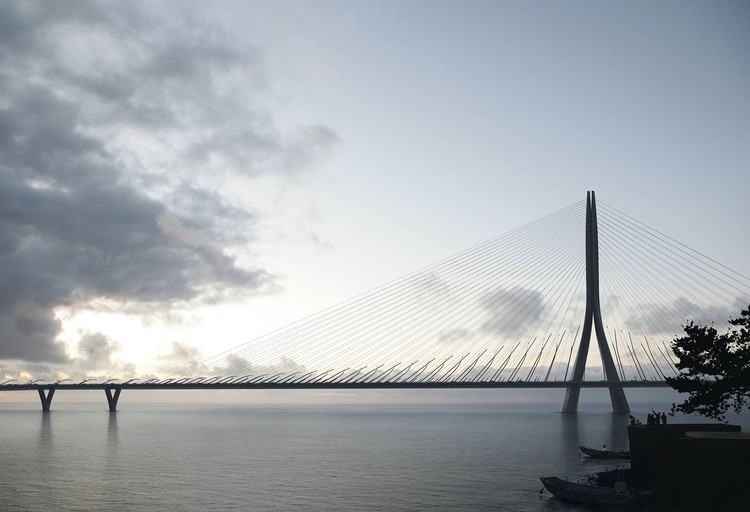 Zaha Hadid Architects gana concurso para diseñar nuevo puente de 960 metros en Taiwán, © Danjiang Bridge por Zaha Hadid Architects, render por MIR