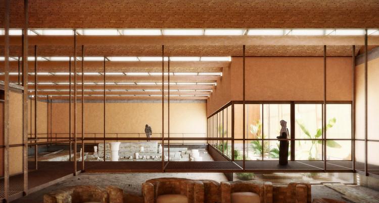 Render vista interior. Imagen cortesía de Kéré Architecture