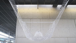The BIC Structure is an Undulating Canopy Made from 10,000 Pens