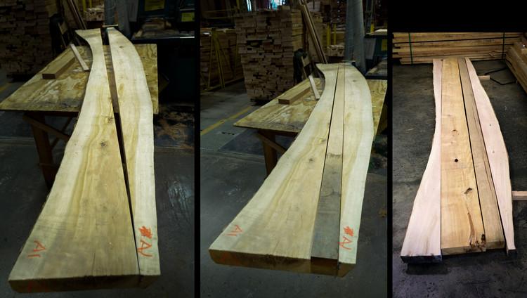 """La """"mesa de Chile"""" en la Expo Milán 2015 / 50 metros de madera de lenga, Cortesía de Ignisterra"""