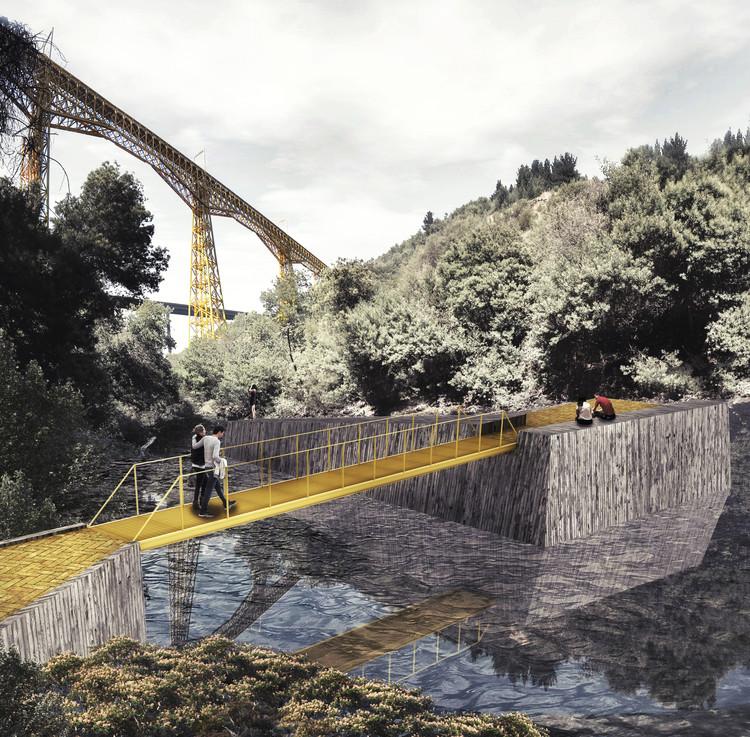 Estación del río. Image Cortesía de Equipo Segundo Lugar