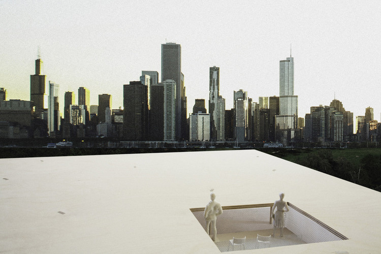 "Primer Lugar ""Lakefront Kiosk Competition"": Chicago Horizon / Ultramoderne. Image Cortesía de The Chicago Architecture Biennial"