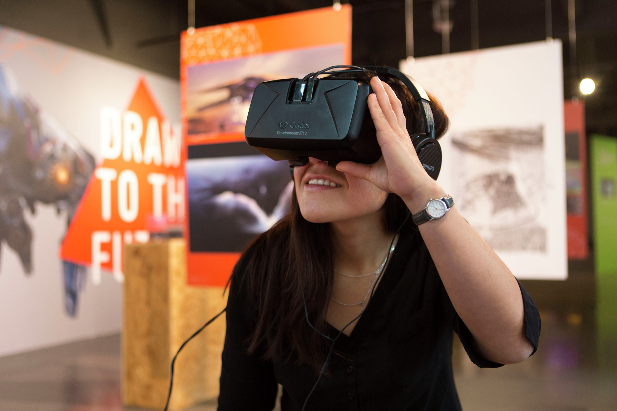 D Virtual Reality Exhibition : Gallery of exhibition drawn to the future