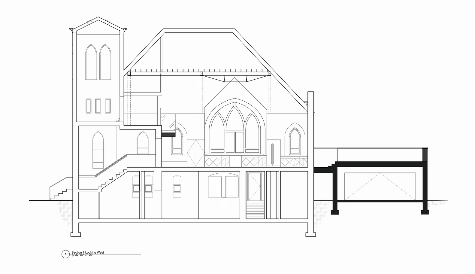 Architecture Drawing Kit gallery of church conversion into a residence / linc thelen design