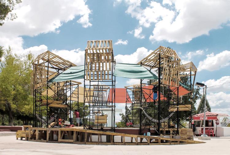 PKMN y estudiantes del 'Taller del Desierto' realizan intervención colectiva en Chihuahua, México, Cortesía de PKMN Architectures