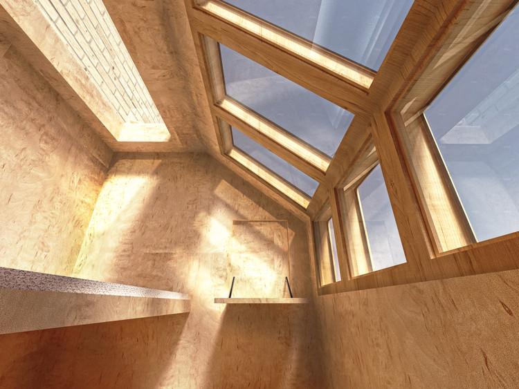 Render vista interior. Imagen cortesía de James Furzer