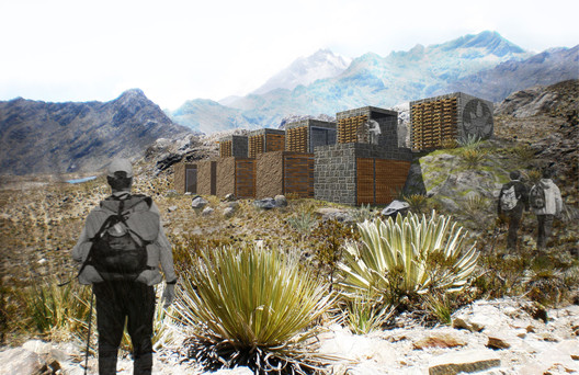Módulo en los Andes. Image Cortesía de Equipo desarrollador