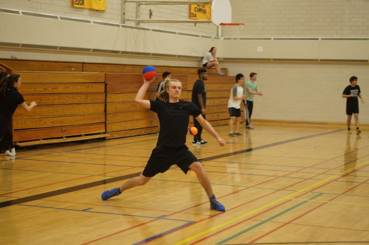 A student organized Dodgeball tournament. Image © Jeff So