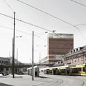 View from Vogesenplatz. Image © EM2N; Render by Ponnie Images