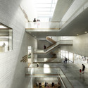 Staircase hall Museum of Natural History Basel. Image © EM2N; Render by Luxigon