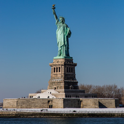 The Pedestal at the Statue of Liberty is an early example of an architecture crowdfunding campaign. Image © Flickr CC user Joao Carlos Medau