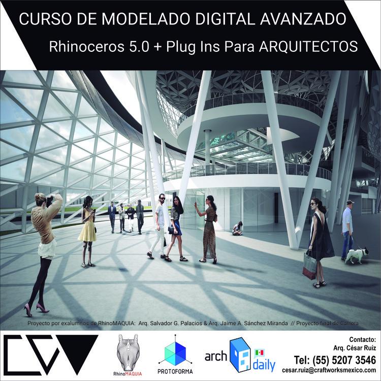 Curso rhinoceros 5 0 plugins para arquitectos ciudad for Cursos para arquitectos