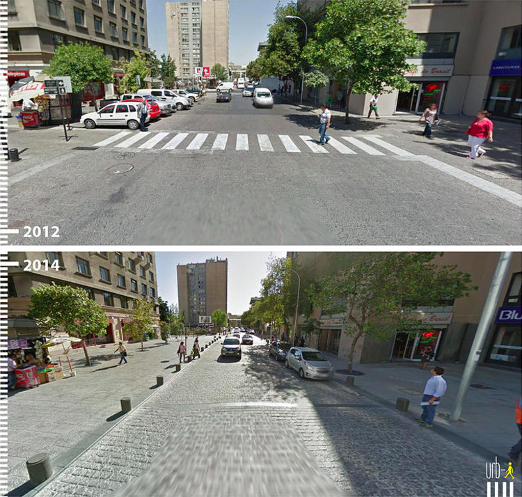 Before & After: 30 Photos that Prove the Power of Designing with Pedestrians in Mind, Padre Alonso de Ovalle, Santiago, Chile. Image Courtesy of Urb-I