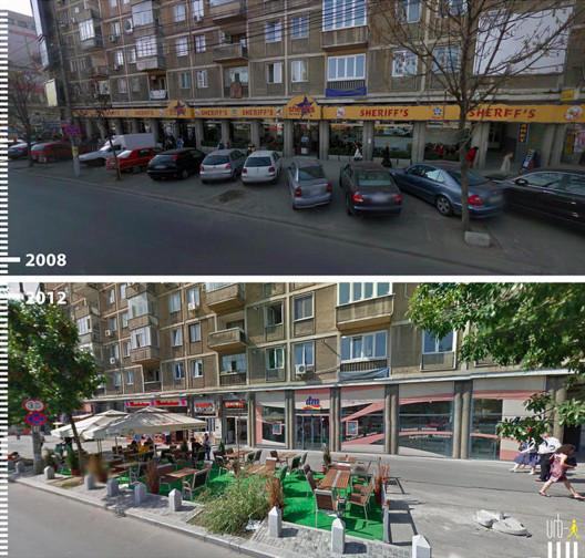 Boulevard Ion C., Bucarest, Rumania. Cortesia de Urb-I