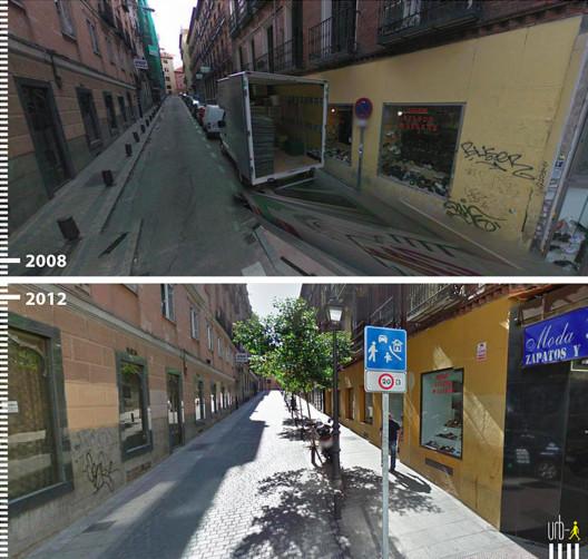 Calle Marqués de Leganés, Madri, Espanha. Cortesia de Urb-I