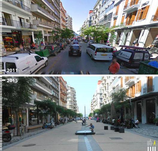 Agias Sofias, Salónica, Grécia. Imagem 2015 por Kosmas Anagnostopoulos. Cortesia de Urb-I
