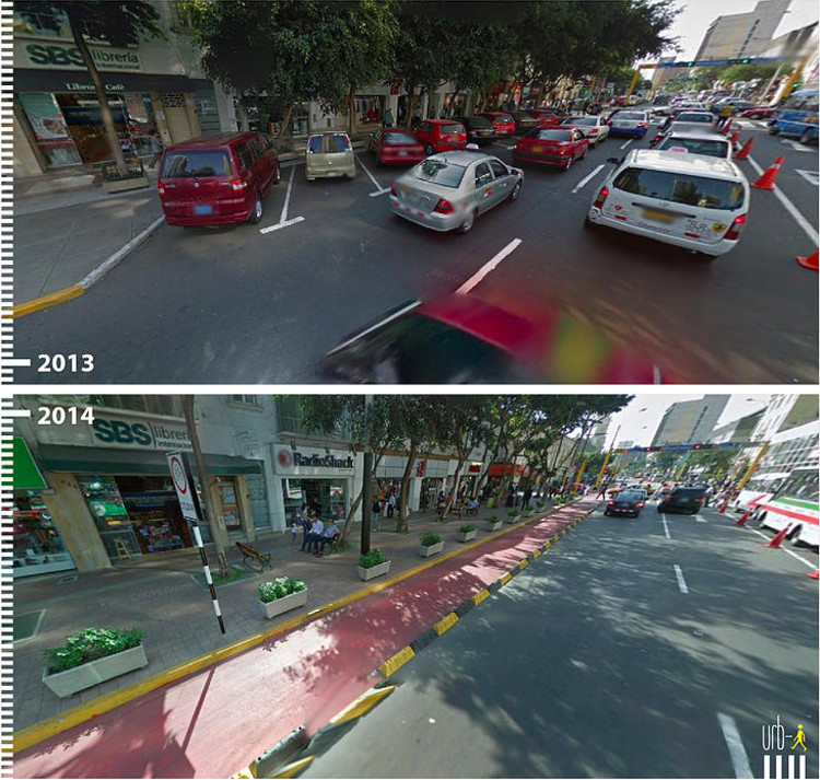 Avenida José Larco, Lima, Peru. Image Courtesy of Urb-I