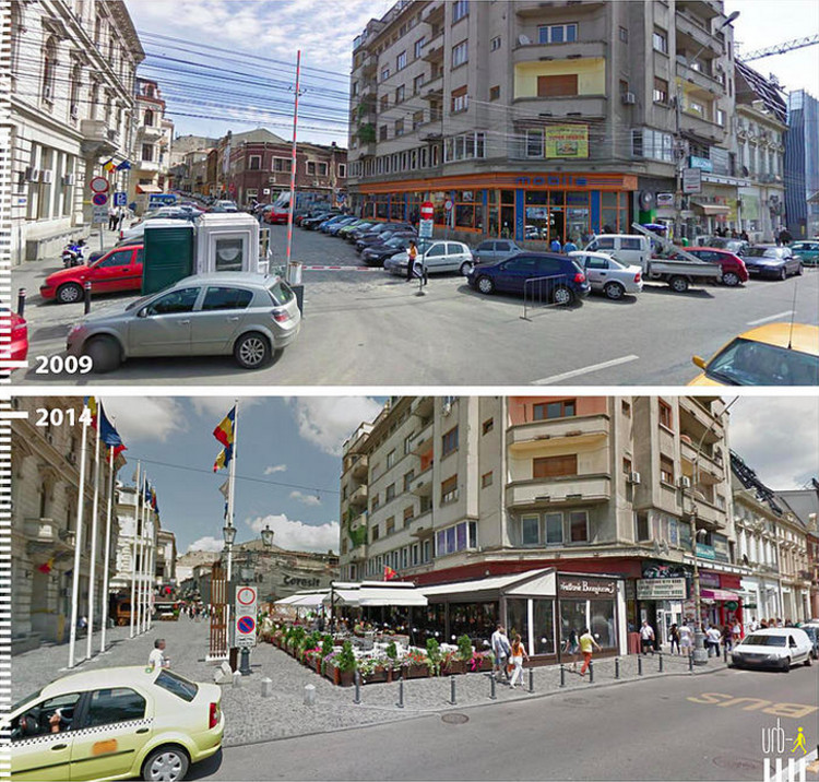 Strada Halelor, Bucharest, Romania. Image Courtesy of Urb-I