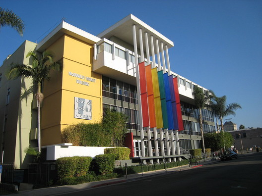 The Los Angeles LGBT Center's existing building in Hollywood. Image via Wikipedia