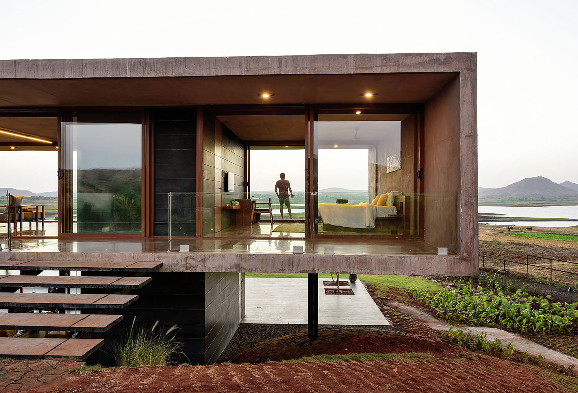 Gallery of panorama house ajay sonar 2 for Panoramic view house plans