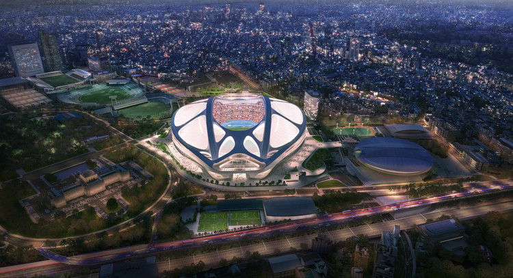Zaha Hadid Architects Release Video Presentation and Report on New National Stadium in Tokyo, © Zaha Hadid Architects. Image by Methanoia