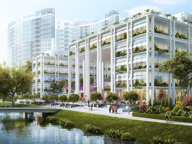 Oasis Terrace: Singapore's New Neighborhood Center and Polyclinic, Courtesy of Serie Architects
