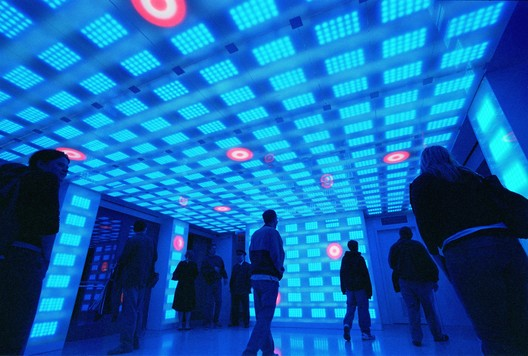 Target Interactive Breezeway, Rockefeller Center, New York. Lighting design by Electroland, www.electroland.net. Image © Electroland