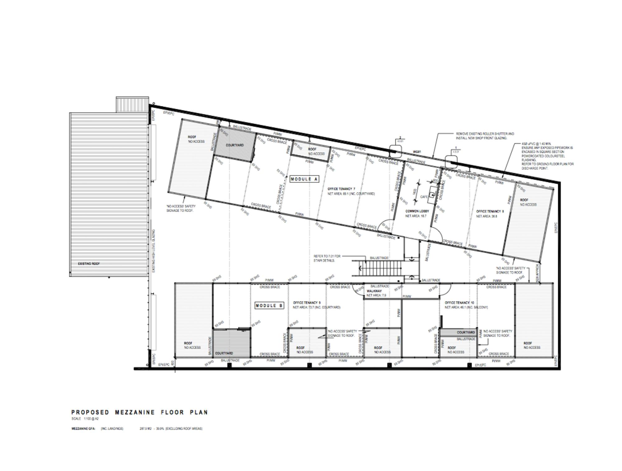 Gallery of qb studios qb modular 22 - Studio plan met mezzanine ...
