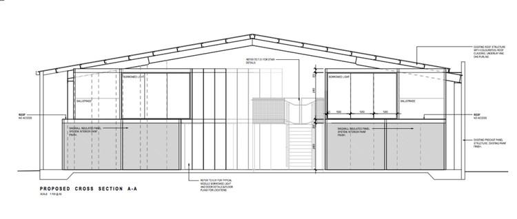 Sección transversal propuesta AA