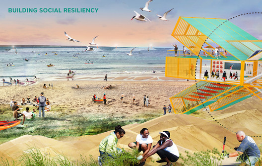 The 2014 winner of the Buckminster Fuller Challenge, SCAPE's Climate Change Adaptation Plan. Image © SCAPE