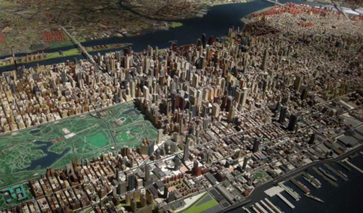 Maqueta de la ciudad de Nueva York. Image