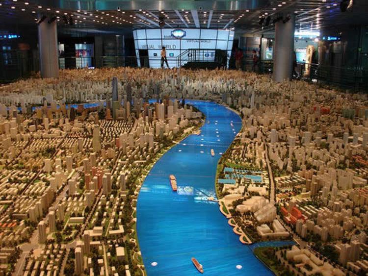 Maqueta de la ciudad de Shangai. Image