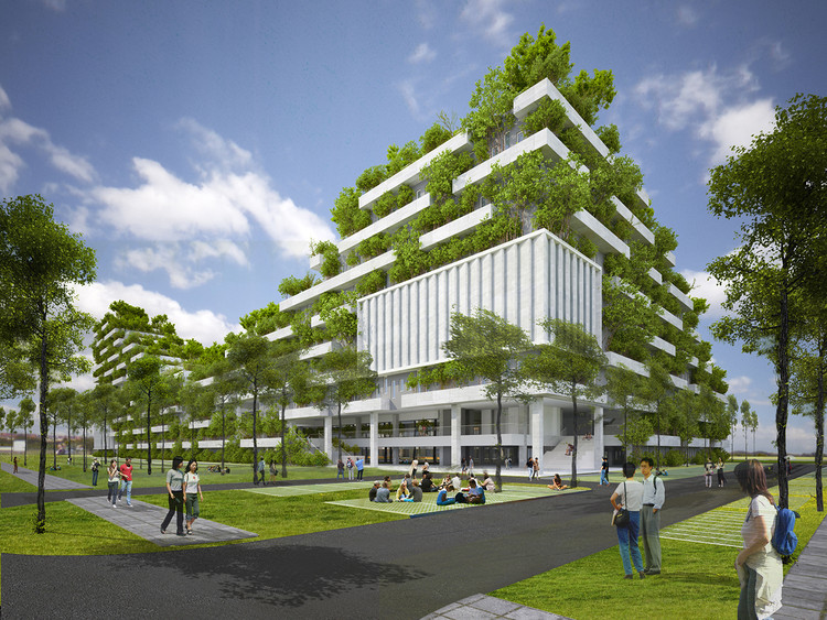 "Vo Trong Nghia's FPT University Ho Chi Minh City is Inspired by a ""Forested Mountain"", Courtesy of Vo Trong Nghia Architects"