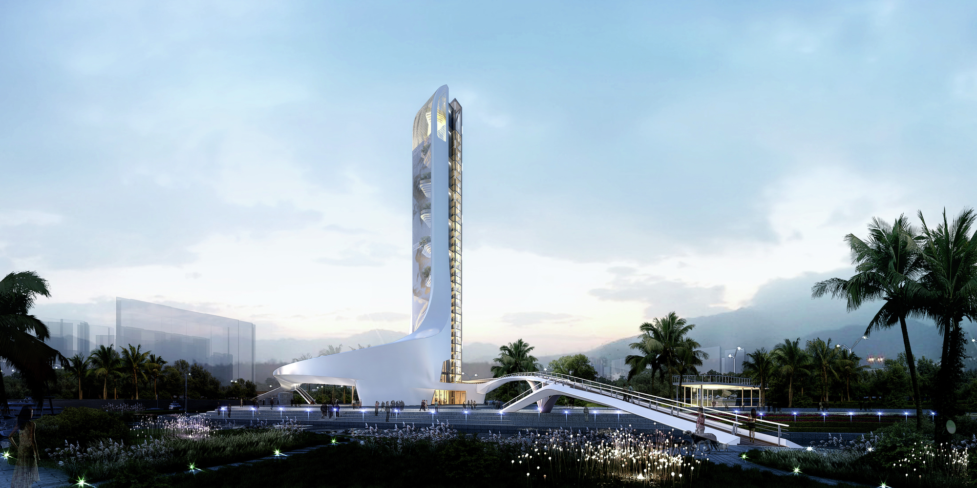 Competition entry wva s zhuhai observation tower archdaily for Architecte tower bridge