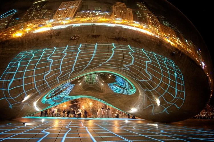"""""""Luminous Field"""": transformar el espacio público a través de la luz y el sonido, © Milosh Kosanovich"""