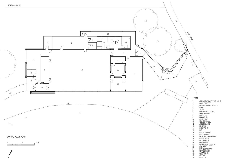 gallery of port melbourne football club k20 architecture 12 port melbourne football club floor plan