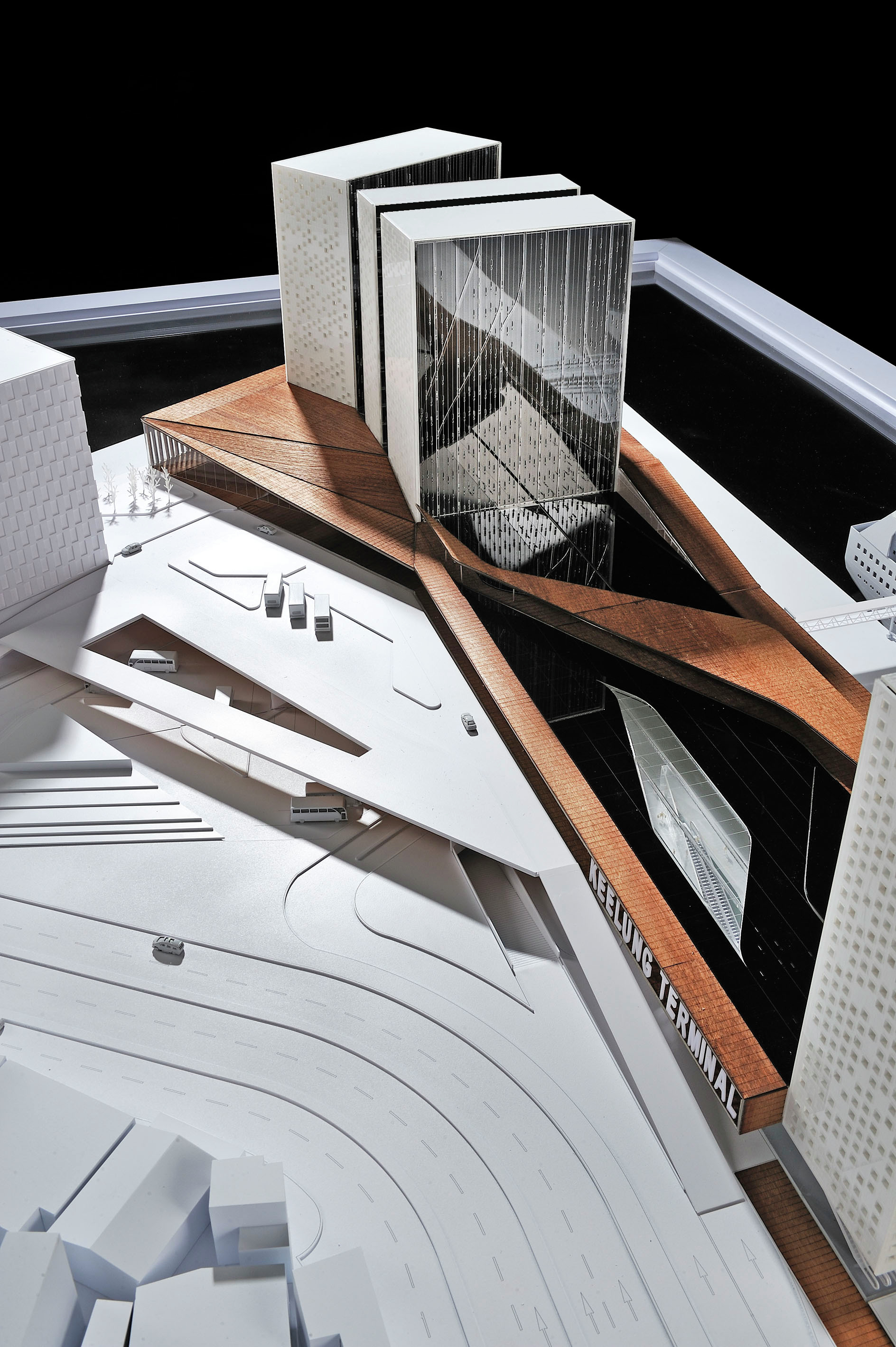Keelung new harbor service building competition entry for Architectural concept models
