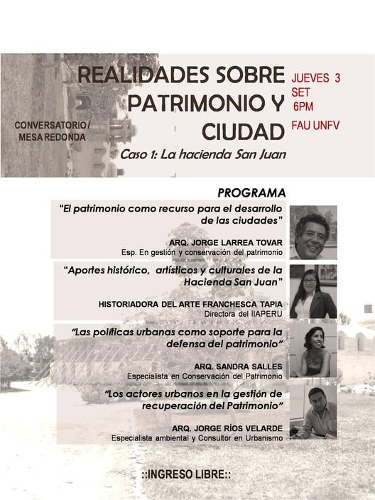 """Conversatorio """"Realidades sobre Patrimonio y Ciudad"""", vía Recuperemos la Hacienda de San Juan"""