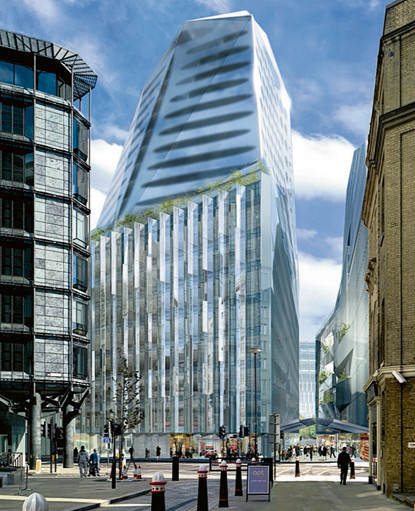 Foster + Partners and Jean Nouvel's Walbrook Square
