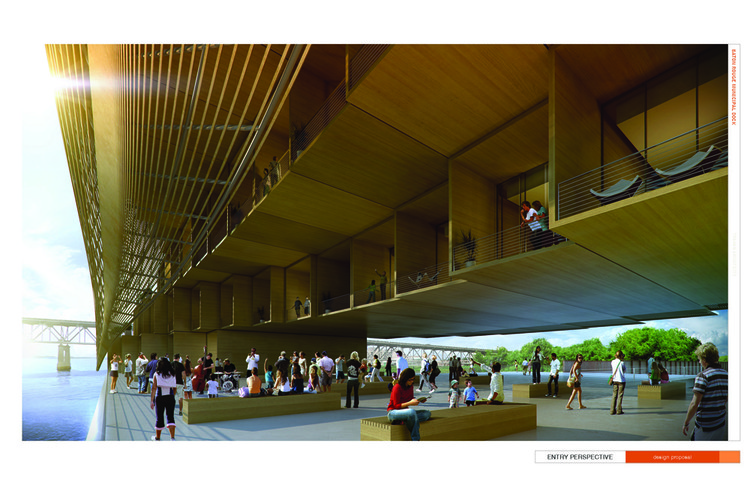 View of Public Plaza © Trahan Architects