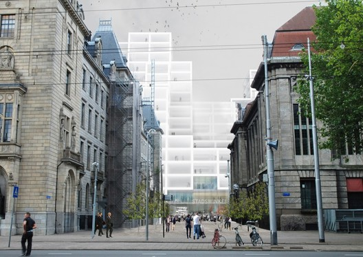 © OMA - View from Coolsingel street
