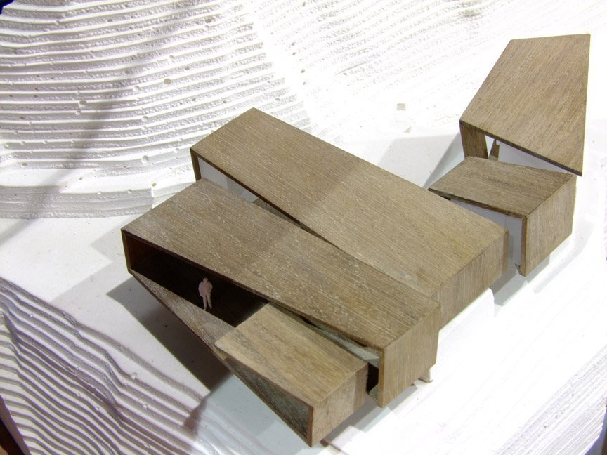Wood Elevation Model : Gallery of hollywood house why architecture